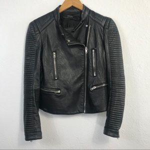Perfect Zara Faux Leather Jacket (with inner flaw)
